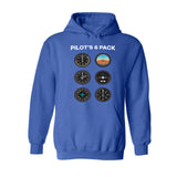 Pilot's Six Pack Designed Hoodies