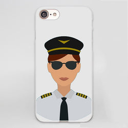 Female Airline Pilot Designed iPhone Cases