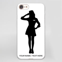 Flight Attendant Silhouette Printed iPhone Cases