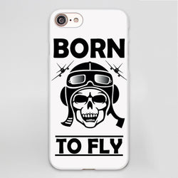 Born To Fly Skeleton Face Designed iPhone Cases