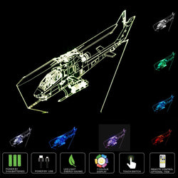 3D Helicopter Shaped Led Night Lamps