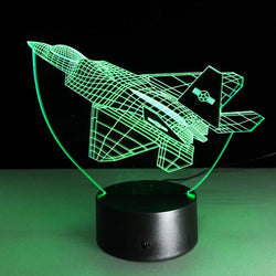Fighter Jet Designed 3D Night Lamps