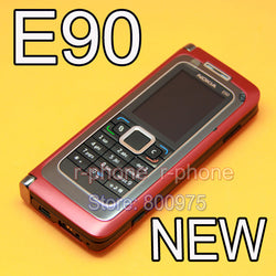 NOKIA E90 Mobile Cell Phone 3G GPS Wifi 3.2MP Bluetooth Smartphone Red & Gift