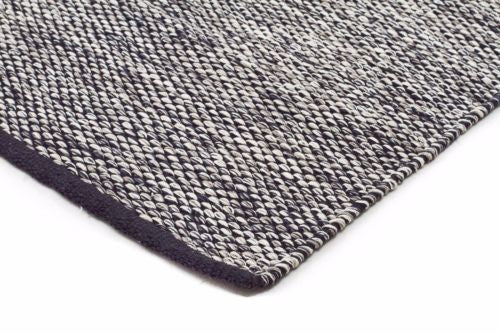 Skandi 305 BLACK Colour Wool Rugs Modern Rugs Contemporary Modern Floor Rugs
