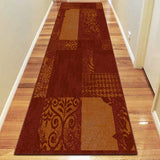 Prestige 380 Polypropylene Machine Knotted Modern Rug Red