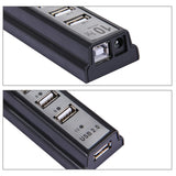 10 Port USB 2.0 Hi Speed Multi Hub Expansion with Power Adaptor for PC & Laptop(Silver)