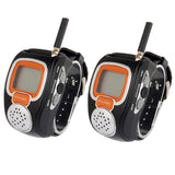 462MHz-467MHz Freetalker Watch Walkie Talkie, Up to 6km of Range, 2pcs in one packaging, the price is for 2pcs, Only US Plug (Black)
