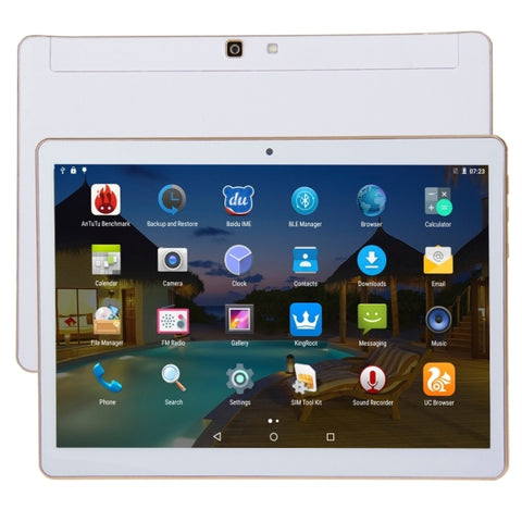 4G Phone Call Tablet, 9.6 inch, 2GB+32GB, Android 5.1, MTK6592 Octa Core 1.0GHz, Dual SIM, GPS(White)