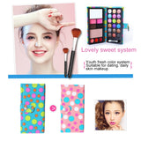 26 Colors Makeup 18 Colors Anti-blooming Eye Shadow Makeup Palette + Blush Pressed Powder Frozen Lipstick Eyebrow Powder with Mirror & Brush, Wallet Case Style Set(Black)