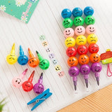 3 PCS Creative Stationery Children Cartoon Candy Colorful Crayon