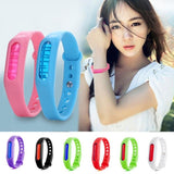 5 PCS Anti-mosquito Silicone Repellent Bracelet Buckle Wristband Bugs Away, Suitable for Children and Adults, Length:23cm, Random Color Delivery