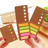 3 PCS Kraft Paper Cover Candy Color Memo Pad N-times Sticky Notes Bookmark Notepad