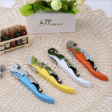 10 PCS Multi-function Sea Horse Pattern Stainless Wine Bottle Opener, Can Opener Bottle Opener, Random Color Delivery