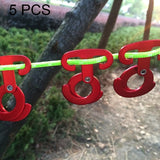 5 PCS Aluminum Alloy Climbing Outdoor Hiking Camping Rope Hanger Hook Tent Light Hanging Buckle