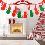 4 PCS Creative Christmas Pull Flags Christmas Decorations, Random Style Delivery