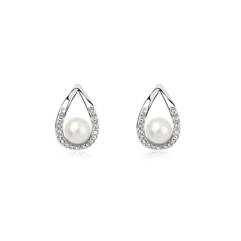 3 Pack Austrian crystal earrings - Real (Colour: White)