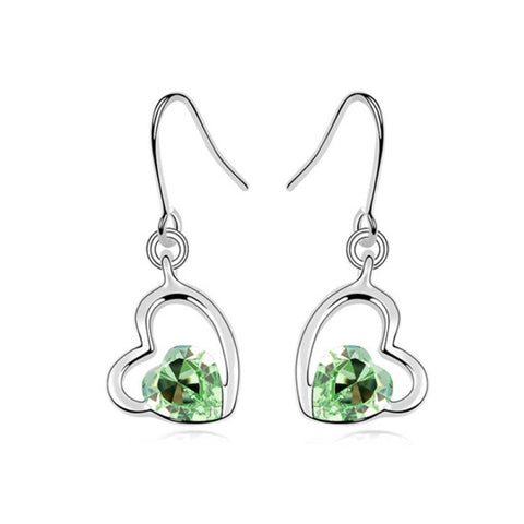 3 Pack Austrian Crystal Earrings - Cool Autumn (Colour: Olive Green)