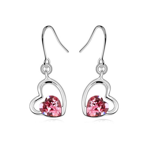 3 Pack Austrian Crystal Earrings - Cool Autumn (Colour: Rose)