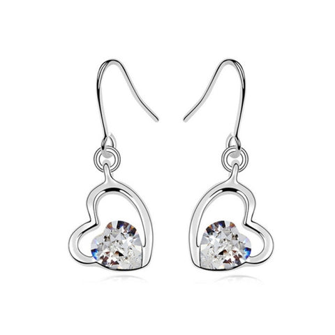3 Pack Austrian Crystal Earrings - Cool Autumn (Colour: White)
