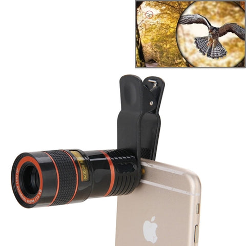 Universal Mobile Cell Phone Lens 8X Zoom Telescope