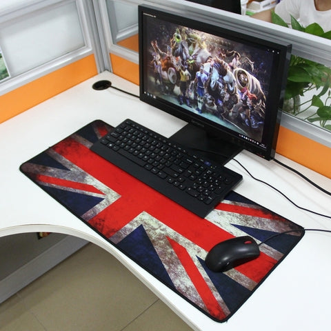 UK Flag Pattern Mouse Pad, Size: 70cm x 30cm