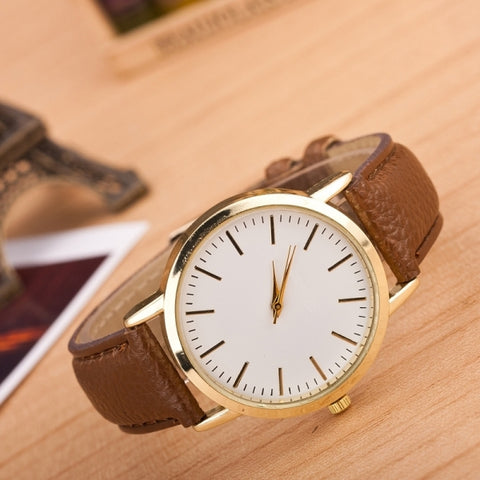 3 Pack Marble And Gold Belt Watches (Colour: Coffee)