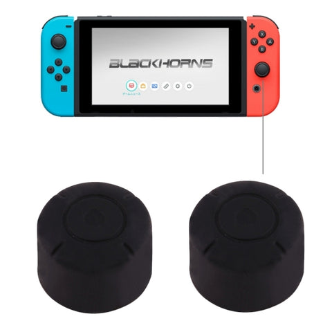 2 PCS for Nintendo Switch Game Button Silicone Caps Protective Cover (Black)