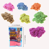 5 PCS Space Color Sand Slime DIY Ultra-light Clay Magic Modeling Sand Putty Education Toys with Model for Kids, Random Color Delivery