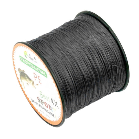 4.0# 0.34mm 45LB 18.1kg Tension 500m Extra Strong 4 Shares Braid PE Fishing Line Kite Line(Black)