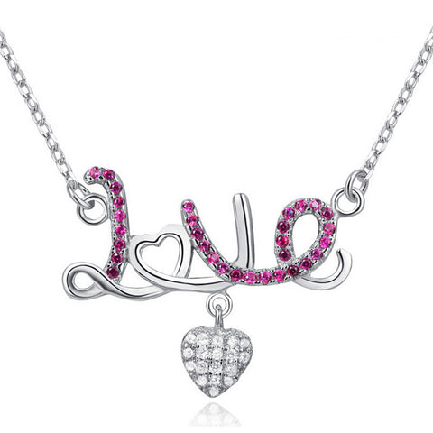 Love Style Pendant 925 Sterling Silver Pendants Necklaces