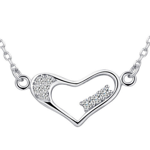 Silver Heart Pendants Necklaces  Real 925 Sterling Silver