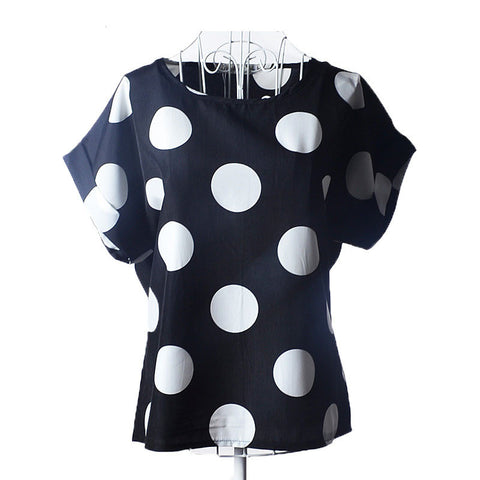 European and American plus size short-sleeved women tops