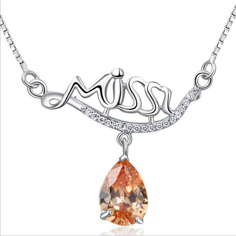 Miss Style 925 Sterling Silver Pendants Necklaces