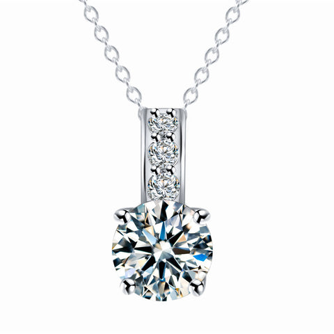 Unique Design One word Necklace Pendant Zircon Crystal