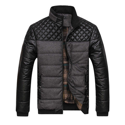 Warm Patchwork Plaid Design Winter Coat
