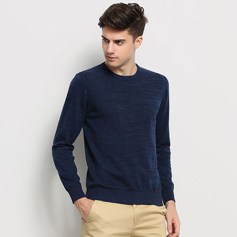 Fashion Brand Clothing Men's Sweaters Solid Color Slim Fit