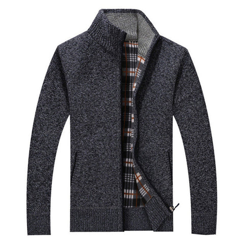 New wool coat Men 's casual cashmere cardigan