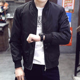 Casual Slim Stand Collar Bomber Jacket