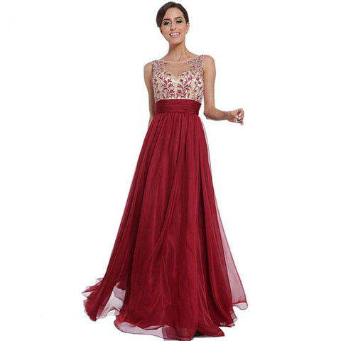 Sexy Maxi Dress Women Long Sleeveless Party Ball Prom Gown