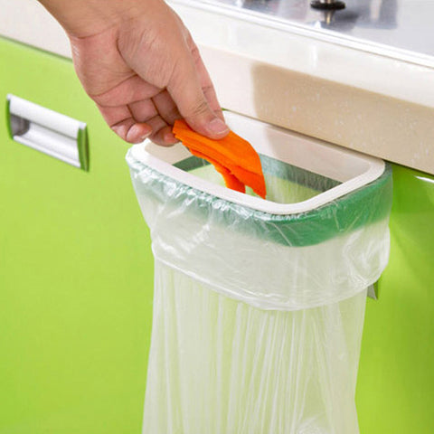Cupboard Door Back Trash Rack Storage Garbage Bag Holder