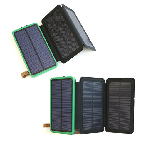 Outdoor Portable Power Bank 10000mAh Rechargeable External Battery Support Solar