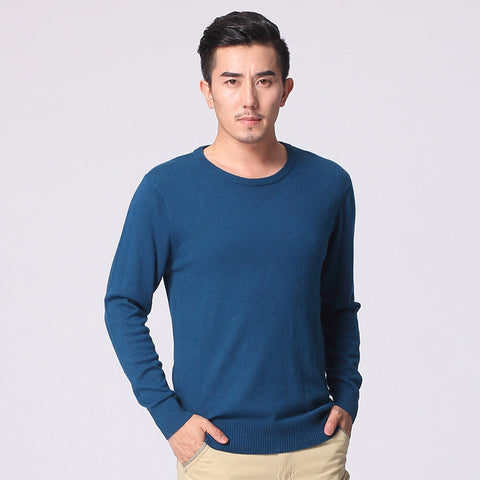O-Neck Cashmere Wool Sweater