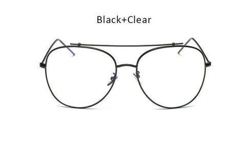 Unisex Fashion Brand Designer New Aviation Metal Glasses Frame Unique Top Clear Lens Frames Feamle Optical Glasses