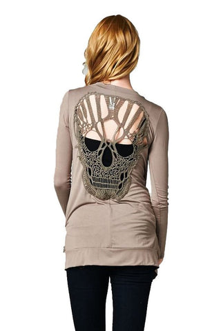 Skull Hollow Out Women Sweaters