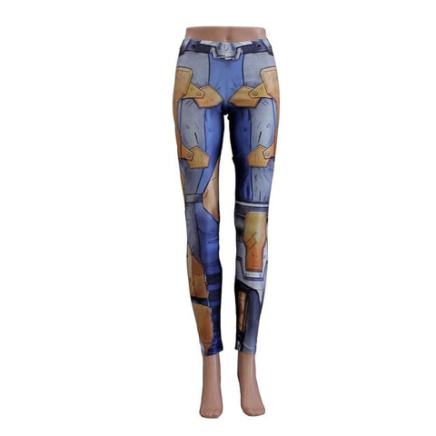 Latest Fashion Women leggings- 3D Printed Bionic ARMOUR plates