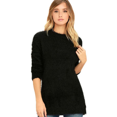Loose Pullover Shirt Long Sleeve Casual O-Neck