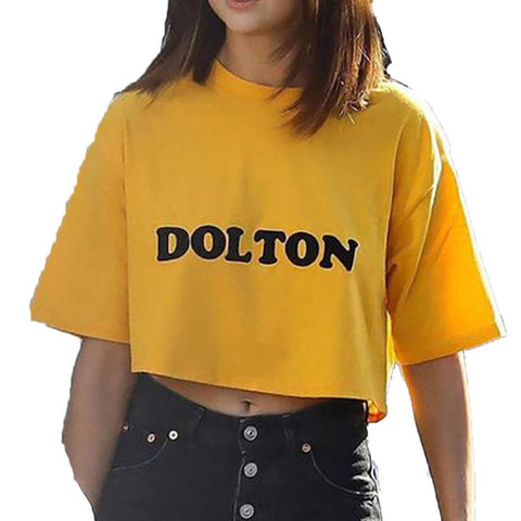 Fashion Yellow Short T-shirt