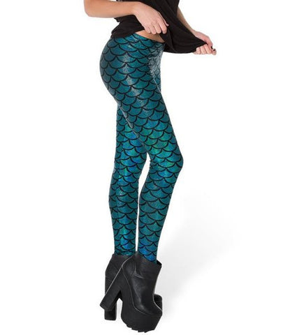 2017 Top Sale Fish Scale Leggings