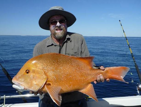 This big red caught on light tackle from the downrigger shop offshore