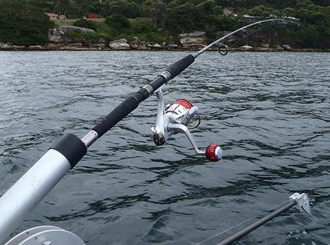 The 24 kilo jigging combo in use with our downrigger